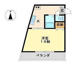 味仙ビル[4階]の間取り