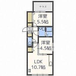 北海道札幌市豊平区豊平八条11丁目の賃貸マンションの間取り