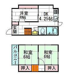 [一戸建] 大阪府吹田市泉町1丁目 の賃貸【/】の間取り