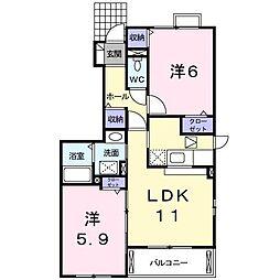 パレ・ドール[1階]の間取り