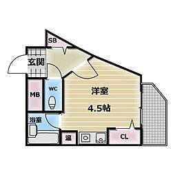 東大阪レヂデンス[2階]の間取り