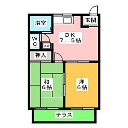 ハイツ和田II[1階]の間取り
