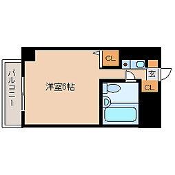 猪名寺パークマンションI[8階]の間取り