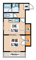 ルシャナコート1[2階]の間取り