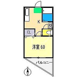 コーポあゆみ[4階]の間取り