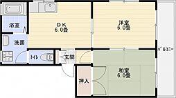 ハイツフレグランス[2階]の間取り