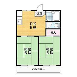 ファミール1号棟[2階]の間取り