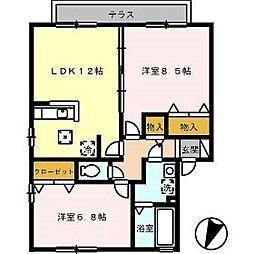 メゾン・ラフィーネ[2階]の間取り