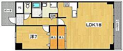 グランパティオ枚方[4階]の間取り