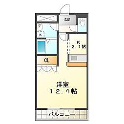 兵庫県神戸市垂水区名谷町字加市の賃貸マンションの間取り