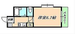 兵庫県神戸市垂水区仲田1丁目の賃貸マンションの間取り