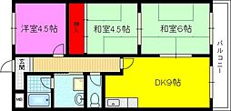 ソレアード東鴻池[3階]の間取り