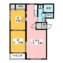 フレンズ[3階]の間取り
