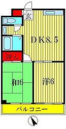 プランドール上田[3階]の間取り
