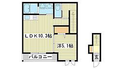 仮)広畑区長町新築アパート[203号室]の間取り