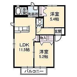 ブルメゾン B棟[1階]の間取り
