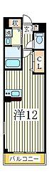 コモド カーサ[1階]の間取り