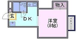 シャンポール豊井[2-C号室]の間取り