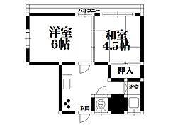 三洋宿院ハイツ[301号室]の間取り