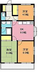 ヤナイマンション[101号室]の間取り
