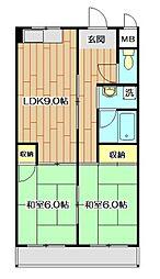 五反田ビル[2階]の間取り