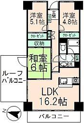 ザ・スクエアD棟[14階]の間取り