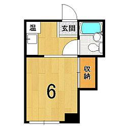 山澤マンション[205号室]の間取り