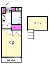 シャンポール白鷺[2階]の間取り