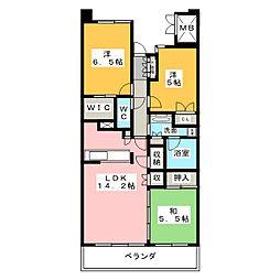 Cassia桜山[11階]の間取り