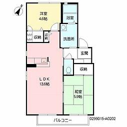 シャーメゾンK&M A棟[2階]の間取り