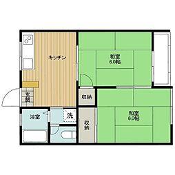 イタクラアパート6号館[7号室]の間取り