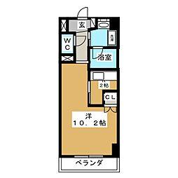 ロンディーヌII榴岡[6階]の間取り