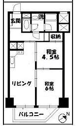 東京都板橋区小豆沢3丁目の賃貸マンションの間取り