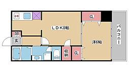 兵庫県神戸市中央区北長狭通7丁目の賃貸マンションの間取り