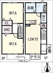 [タウンハウス] 愛知県岡崎市竜美南4丁目 の賃貸【/】の間取り
