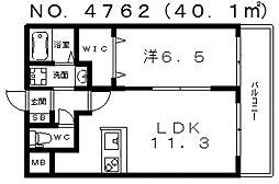 グランパシフィックプラムスクエア[1階]の間取り