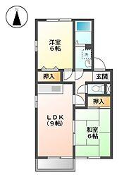 リバーサイドハウス[1階]の間取り