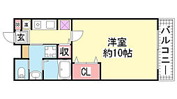 ライオンズステーションプラザ神戸[510号室]の間取り