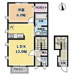 デザインメゾン高倉[2階]の間取り
