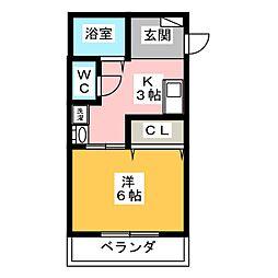 アビタシオン本郷[1階]の間取り