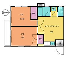 宝田マンション[1階]の間取り