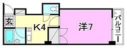M-court三番町[302 号室号室]の間取り