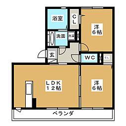 Novel Court IMAISE  A棟[3階]の間取り