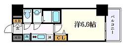 エステムコート名古屋グロース 4階1Kの間取り