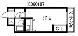 ライオンズマンション上本町第3[4階]の間取り
