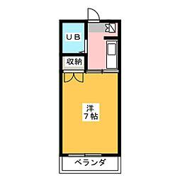 パールマンション社台[4階]の間取り