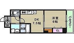 ジューム南船場[1階]の間取り