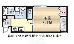 Villa Urbana Sakuradai 3階1Kの間取り