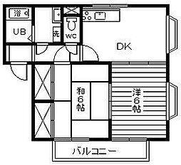 ドミール本郷[B201号室]の間取り