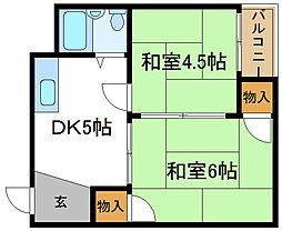 出戸マンション[2階]の間取り
